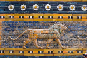Mesopotamia Lion from Ishtar Gate at Pergamon Museum, Berlin. Germany