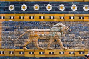 Mesopotamia Lion from Ishtar Gate at Pergamon Museum, Berlin. Germany